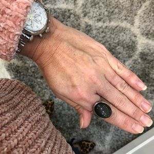 Jewelry - Sterling Silver Black Obsidian Ring